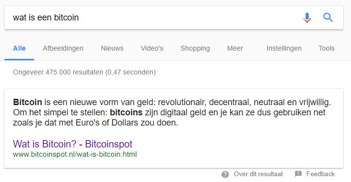 google rich answer box bedrijf promoten